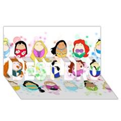 Disney Ladies Best Bro 3d Greeting Card (8x4)