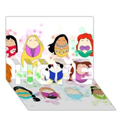 Disney Ladies Hope 3d Greeting Card (7x5)