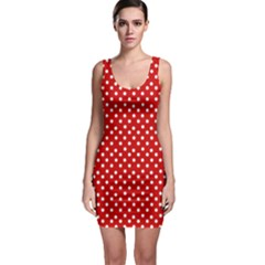 Dotted Red Bodycon Dresses by olgart