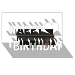The Fallen Happy Birthday 3d Greeting Card (8x4)