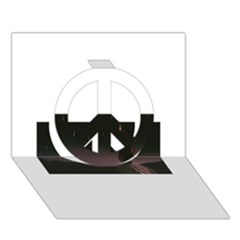 The Fallen Peace Sign 3d Greeting Card (7x5)  by Naturesfinest