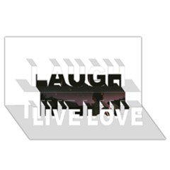 The Fallen Laugh Live Love 3d Greeting Card (8x4)  by Naturesfinest