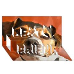 Jack Russell Terrier Best Friends 3d Greeting Card (8x4)