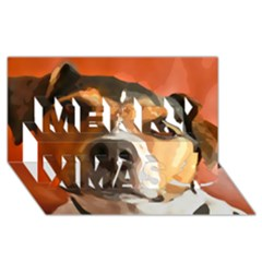 Jack Russell Terrier Merry Xmas 3d Greeting Card (8x4)