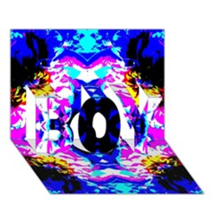 Animal Design Abstract Blue, Pink, Black Boy 3d Greeting Card (7x5) by Costasonlineshop