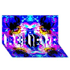 Animal Design Abstract Blue, Pink, Black Believe 3d Greeting Card (8x4)  by Costasonlineshop