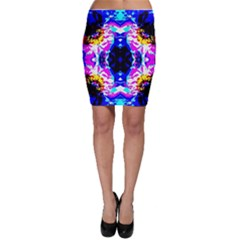 Animal Design Abstract Blue, Pink, Black Bodycon Skirts