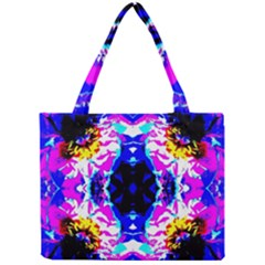 Animal Design Abstract Blue, Pink, Black Tiny Tote Bags