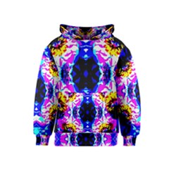 Animal Design Abstract Blue, Pink, Black Kid s Pullover Hoodies