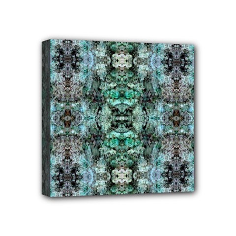 Green Black Gothic Pattern Mini Canvas 4  X 4