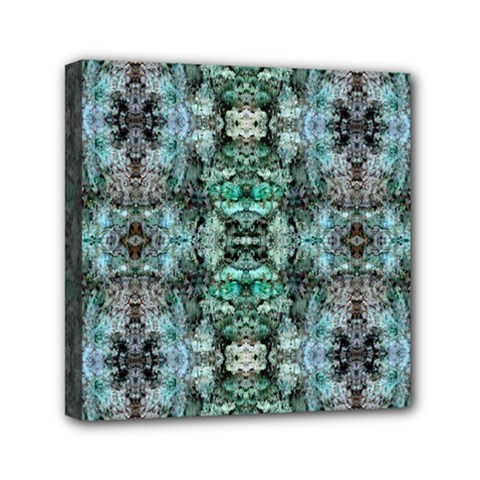 Green Black Gothic Pattern Mini Canvas 6  X 6  by Costasonlineshop