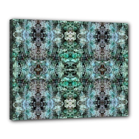 Green Black Gothic Pattern Canvas 20  X 16  by Costasonlineshop