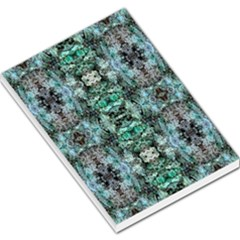 Green Black Gothic Pattern Large Memo Pads by Costasonlineshop
