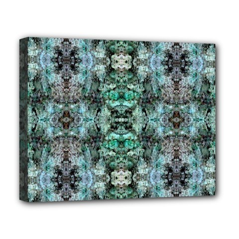 Green Black Gothic Pattern Deluxe Canvas 20  X 16   by Costasonlineshop