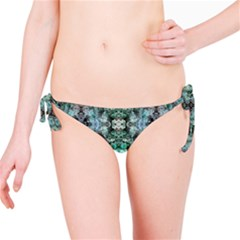 Green Black Gothic Pattern Bikini Bottoms by Costasonlineshop