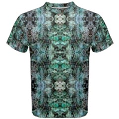 Green Black Gothic Pattern Men s Cotton Tees by Costasonlineshop