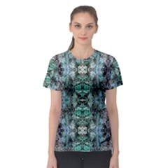 Green Black Gothic Pattern Women s Sport Mesh Tees by Costasonlineshop