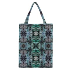 Green Black Gothic Pattern Classic Tote Bags by Costasonlineshop