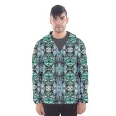 Green Black Gothic Pattern Hooded Wind Breaker (men) by Costasonlineshop