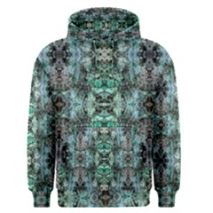 Green Black Gothic Pattern Men s Pullover Hoodies by Costasonlineshop