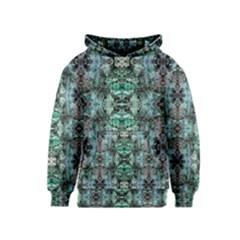 Green Black Gothic Pattern Kid s Pullover Hoodies by Costasonlineshop