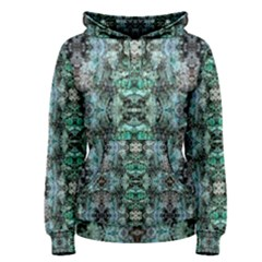 Green Black Gothic Pattern Women s Pullover Hoodies by Costasonlineshop