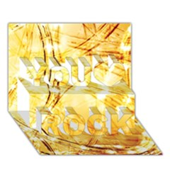 Light Speed You Rock 3d Greeting Card (7x5)