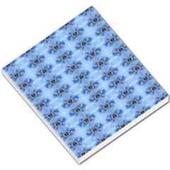 Pastel Blue Flower Pattern Small Memo Pads