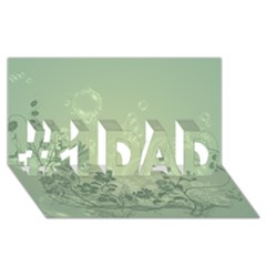 Wonderful Flowers In Soft Green Colors #1 Dad 3d Greeting Card (8x4)