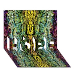 Abstract, Yellow Green, Purple, Tree Trunk Hope 3d Greeting Card (7x5)  by Costasonlineshop