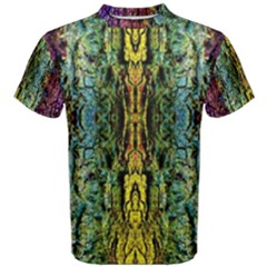 Abstract, Yellow Green, Purple, Tree Trunk Men s Cotton Tees by Costasonlineshop