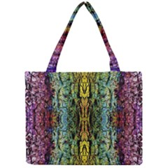 Abstract, Yellow Green, Purple, Tree Trunk Tiny Tote Bags by Costasonlineshop