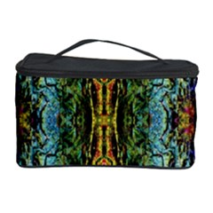 Abstract, Yellow Green, Purple, Tree Trunk Cosmetic Storage Cases by Costasonlineshop