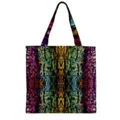 Abstract, Yellow Green, Purple, Tree Trunk Zipper Grocery Tote Bags by Costasonlineshop