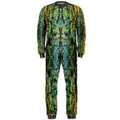 Abstract, Yellow Green, Purple, Tree Trunk OnePiece Jumpsuit (Men)  by Costasonlineshop
