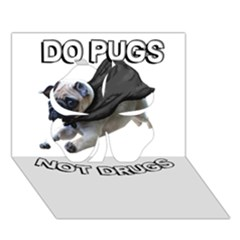 Do Pugs Clover 3d Greeting Card (7x5)