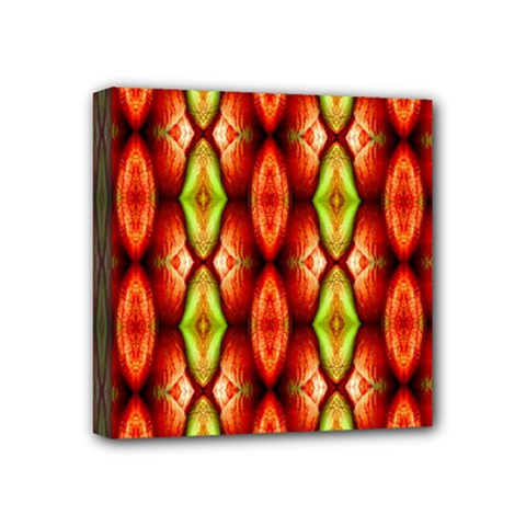 Melons Pattern Abstract Mini Canvas 4  X 4