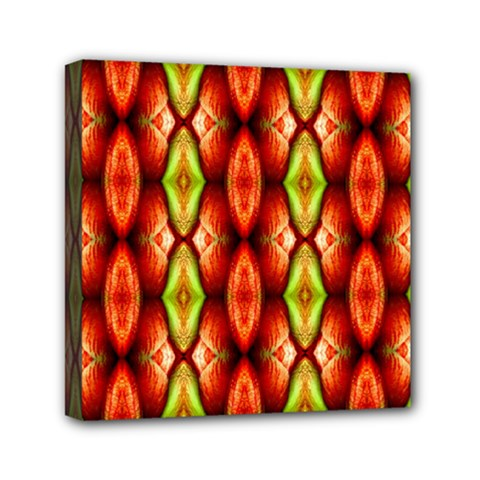 Melons Pattern Abstract Mini Canvas 6  x 6  by Costasonlineshop