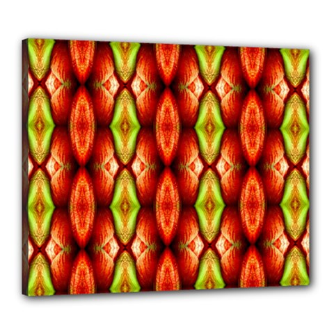 Melons Pattern Abstract Canvas 24  X 20  by Costasonlineshop