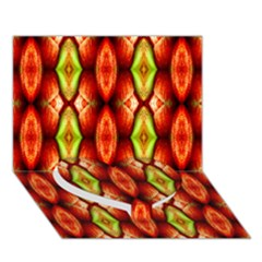 Melons Pattern Abstract Heart Bottom 3d Greeting Card (7x5)  by Costasonlineshop