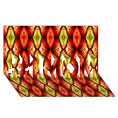 Melons Pattern Abstract #1 Mom 3d Greeting Cards (8x4)