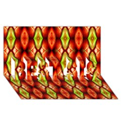 Melons Pattern Abstract Best Sis 3d Greeting Card (8x4)  by Costasonlineshop