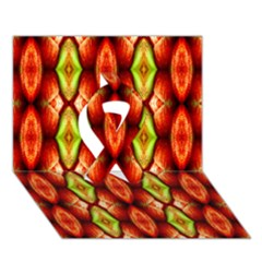 Melons Pattern Abstract Ribbon 3d Greeting Card (7x5)