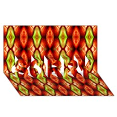 Melons Pattern Abstract Sorry 3d Greeting Card (8x4)  by Costasonlineshop