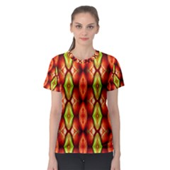 Melons Pattern Abstract Women s Sport Mesh Tees by Costasonlineshop