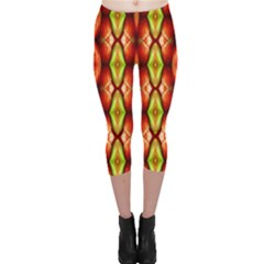 Melons Pattern Abstract Capri Leggings by Costasonlineshop