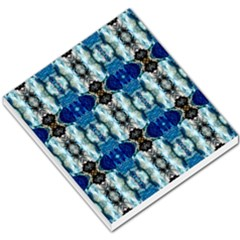 Royal Blue Abstract Pattern Small Memo Pads by Costasonlineshop