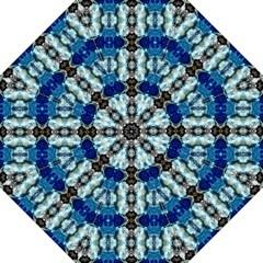 Royal Blue Abstract Pattern Hook Handle Umbrellas (medium) by Costasonlineshop