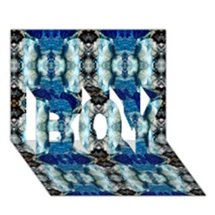 Royal Blue Abstract Pattern Boy 3d Greeting Card (7x5) by Costasonlineshop