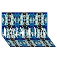 Royal Blue Abstract Pattern Best Bro 3d Greeting Card (8x4)  by Costasonlineshop